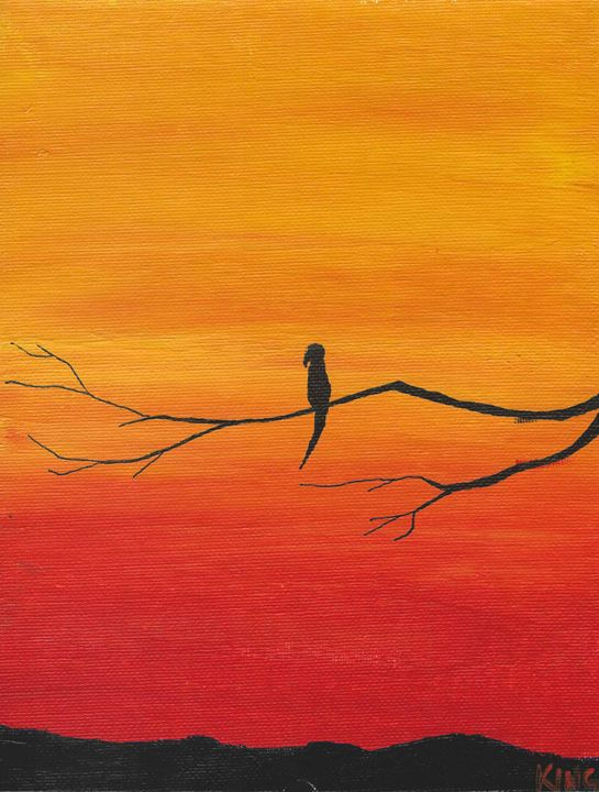 Mimosa Sunset Numero Tres - Miss Lemonade's Canvas