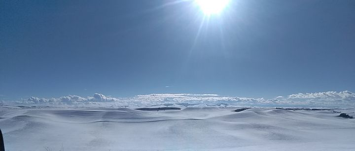 Snow Blanketed Palouse - Shadow Severed
