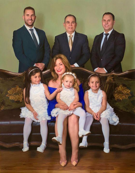 Oil Painting Custom Family Portrait - JK Fine Art