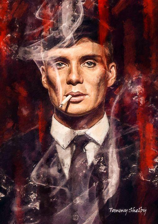 Tommy Shelby Painting - Anxhela Sufa