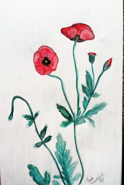Red Poppies #3 - Linda Waidelich