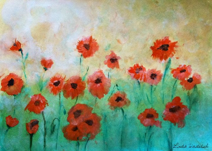 Poppy Study #2 - Linda Waidelich