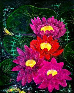 Cluster of Lotus Flowers