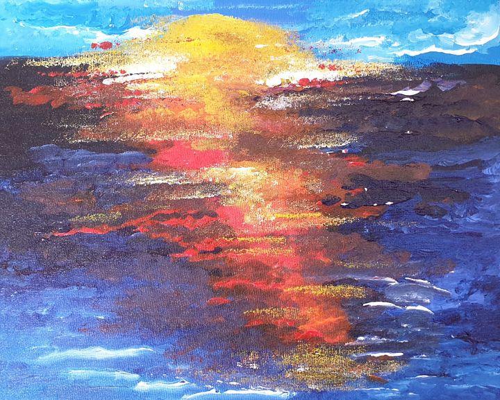 Sunset over Devon - Susan Worker Fine Art