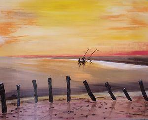 Evening light at Berrow Sands