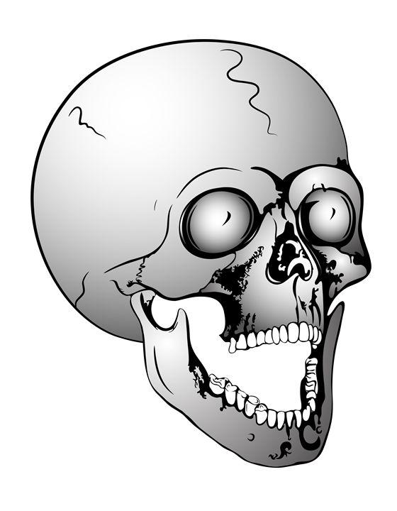 screaming skull - Art Gallery