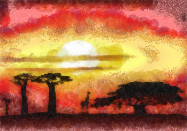 Africa sunset - Art Gallery