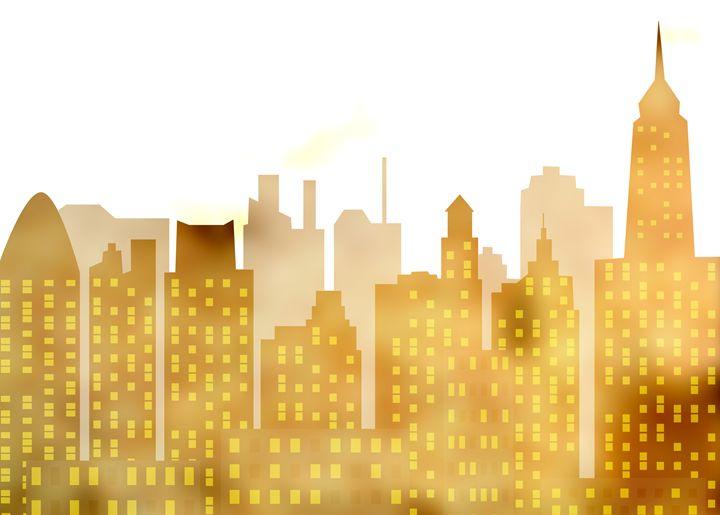 skyscrapers - panorama of modern sky - Art Gallery