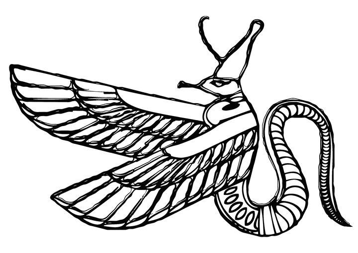 Dragon - demon of ancient Egypt - Art Gallery
