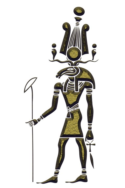 Khensu - God of ancient Egypt - Art Gallery