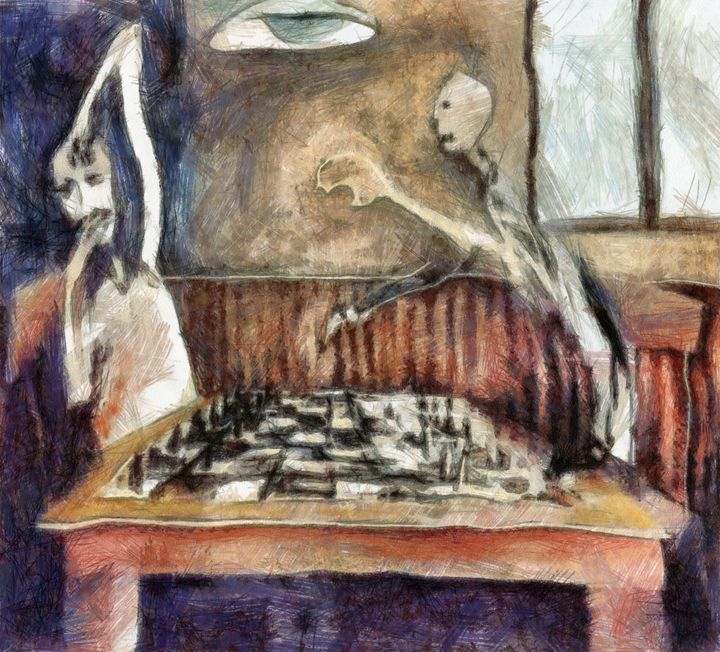 Duel of the chess players - Art Gallery