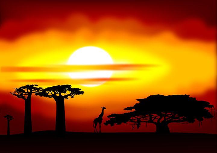 Africa sunset - Art Gallery