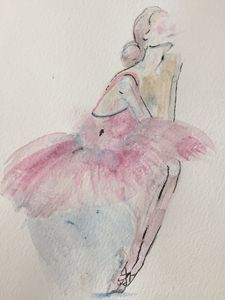 Original Watercolor Painting: Ballet