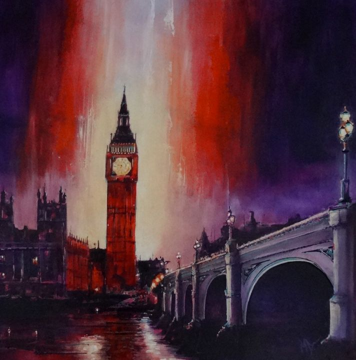 London Nights       is now sold - Mel Davies Original Art