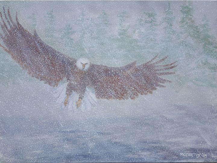 Snow Eagle - lawrence mccarthy