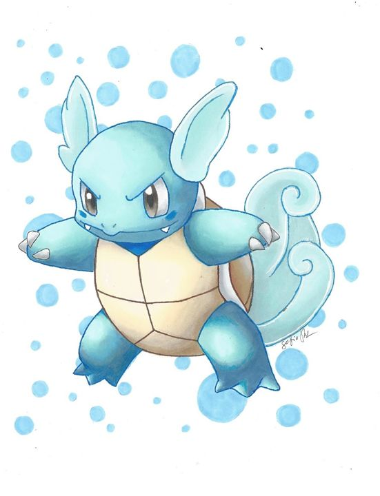 wartortle - Pokemondrawings by Sofie
