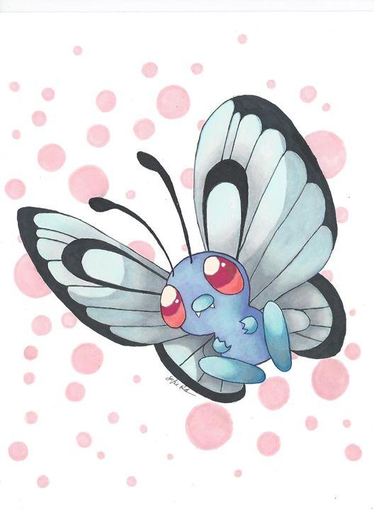 Butterfree - Pokemondrawings by Sofie