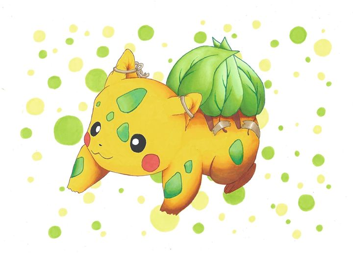 pikasaur - Pokemondrawings by Sofie