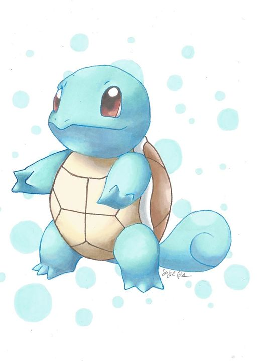 Squirtle - Pokemondrawings by Sofie