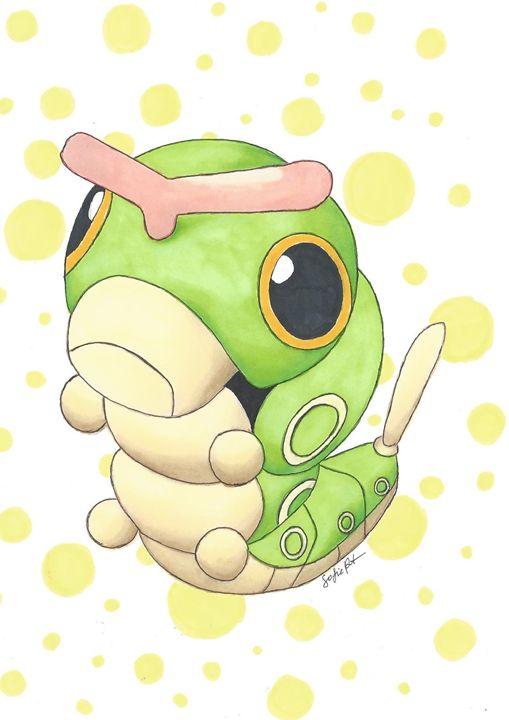 Caterpie - Pokemondrawings by Sofie
