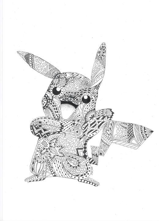 Mandala Pikachu Pokemondrawings By Sofie Drawings
