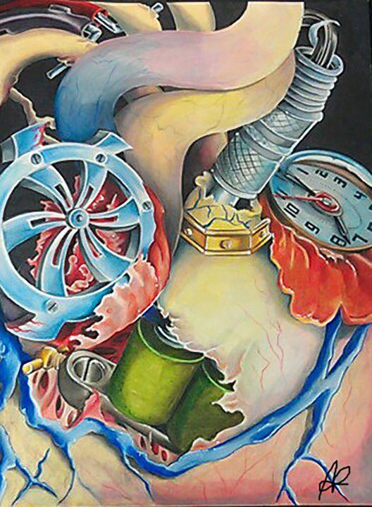 Heart Machiene - Ashley Reynolds Art
