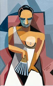 Woman with a Fan (After Picasso)