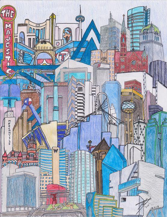 DALLAS, TEXAS - Timothy McVain's ART