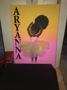 Custom Little Girl Painting