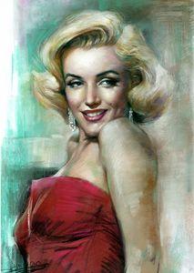 Marilyn Monroe Portrait by Haiyan - pop picture