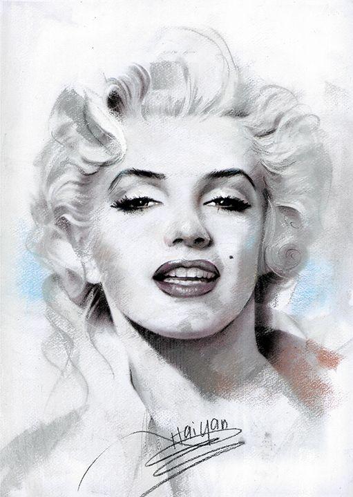 Marilyn Monroe Portrait Canvas Art - pop picture