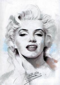 Marilyn Monroe Portrait Canvas Art