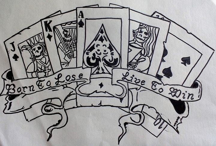 Gamblers cards - Ruby Cragg