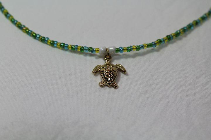 Turtle Necklace - Stunning Art