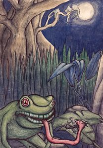 A frogs midnight snack