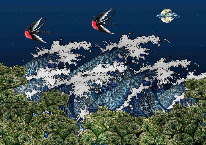 Night ocean - Malitaroses
