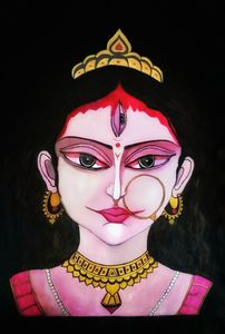 Ma Durga Goddess oil painting