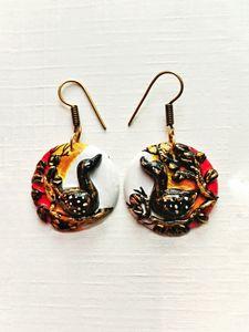 Clay Bird earrings