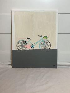 Vintage Bike with Plant Basket