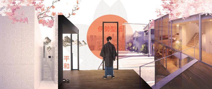 Simple Sakura Collage - Michael Ibay