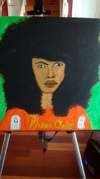 Erika Badu - Leslie Poole Canvas Oil Paintings