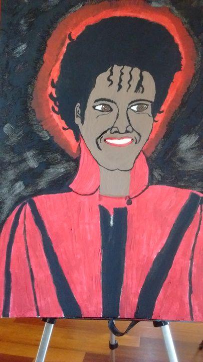 Michael Jackson Thriller - Leslie Poole Canvas Oil Paintings