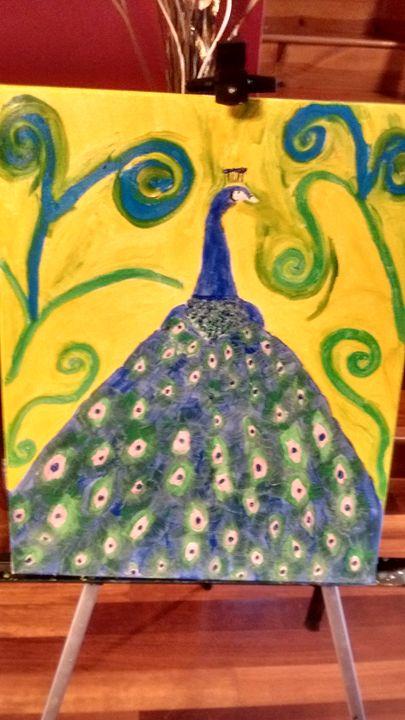 Sunburst (Peacock) - Leslie Poole Canvas Oil Paintings