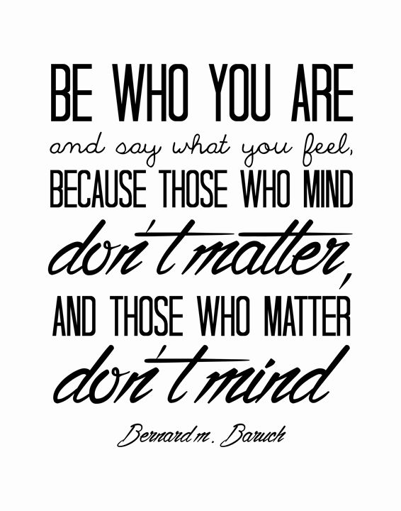 Bernard M Baruch Be who you are - Wall Vibes