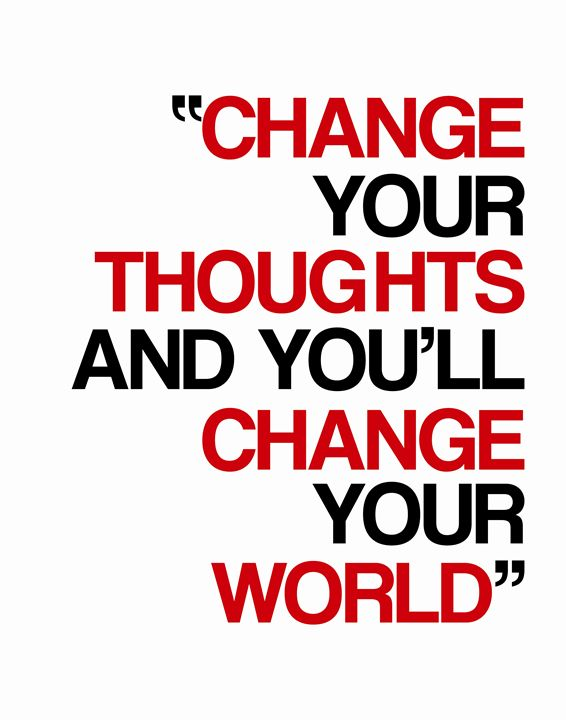 Change your thoughts - Wall Vibes