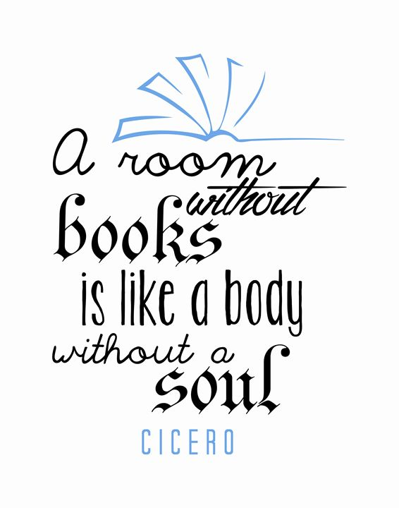 Cicero A room without books - Wall Vibes