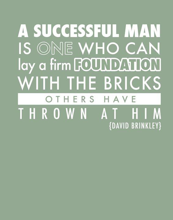 David Brinkley A successful man - Wall Vibes