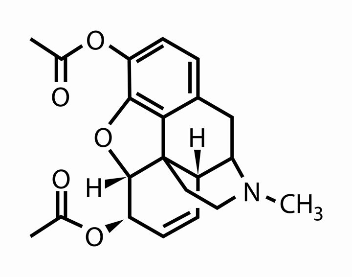 Morphine Chemical Structure - Wall Vibes