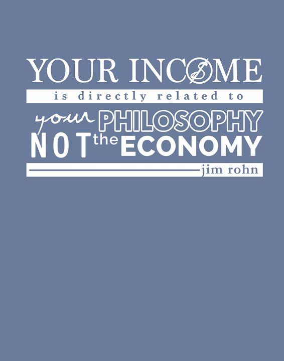Jim Rohn your income - Wall Vibes