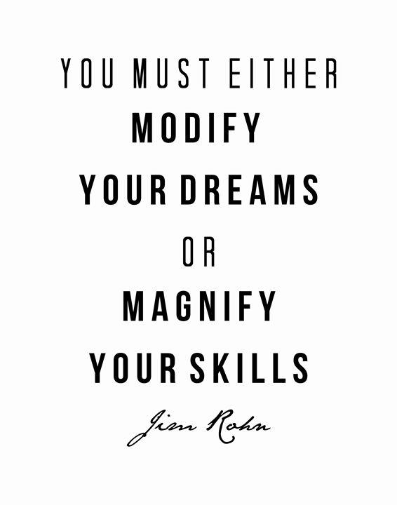 Jim Rohn Dreams or skills - Wall Vibes
